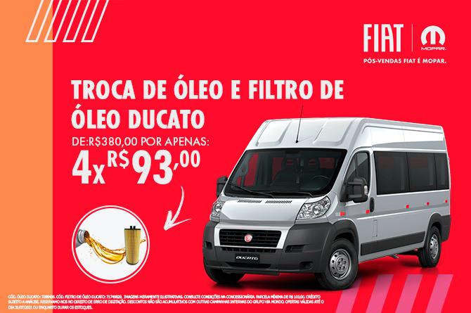TROCA DE OLEO E FILTRO- DUCATO