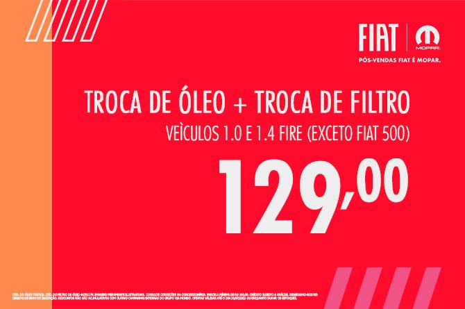 TROCA DE ÓLEO E FILTRO DE ÓLEO- 1.0 E 1.4
