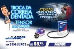 Troca da Correia Dentada por 10 x de R$ 99,00