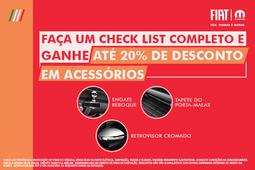 CHECK LIST+ 20% DE DESCONTO EM ACESSÓRIOS