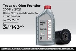 TROCA DE ÓLEO FRONTIER