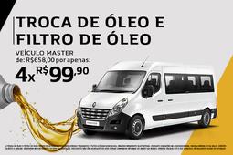 TROCA DE ÓLEO E FILTRO DE ÓLEO VEÍCULO MASTER