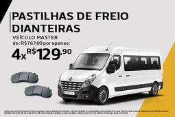 PASTILHAS DE FREIO DIANTEIRAS VEICULO MASTER