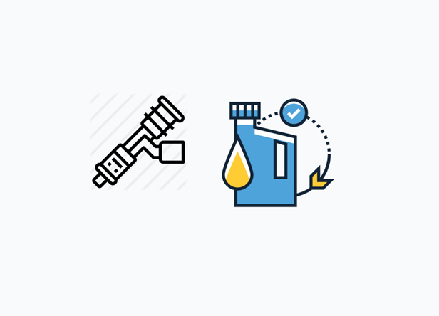 Bicos injetores + aditivo de combustível