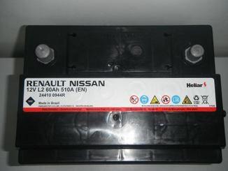 BATERIA 60 AH HELIAR RENAULT/NISSAN
