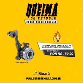 ATUADOR DE EMBREAGEM SANDERO/ LOGAN/ DUSTER 1.6 16V