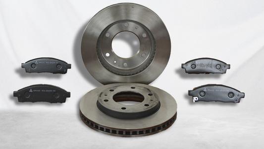 Kit pastilhas mais discos de freio L200 Triton Sport