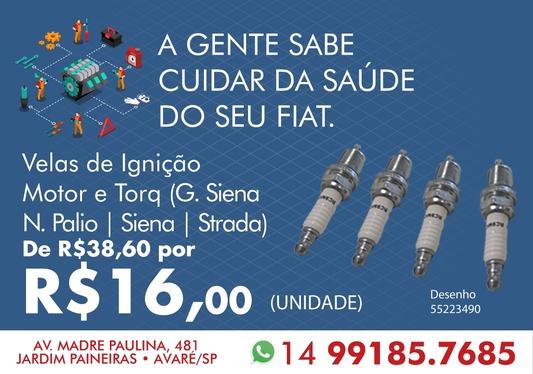 VELAS DE IGNIÇÃO (MOTOR E-TORQ) GRAND SIENA / N. PALIO / SIENA / STRADA