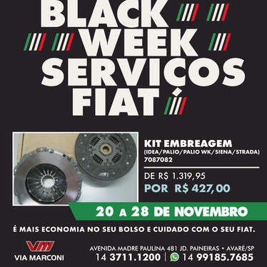 Kit Embreagem (Idea / Palio WK / Siena / Strada)