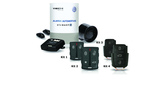 Kit de Alarme com 1 Controle Canivete 3 Teclas e 1 Universal