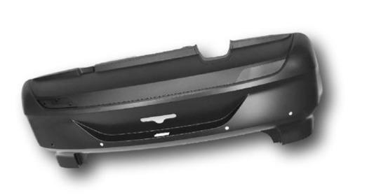 Cobertura Parachoque Traseiro Fox 2015 Vw 5z6807421abgru