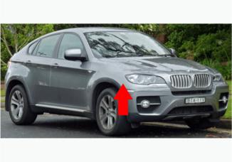Para-lama dianteiro direito para BMW X6 E71 e E72