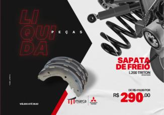 SAPATA DE FREIO L200 TRITON 2010 A 2020