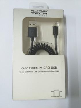 Cabo Espiral Micro Usb V8 Original Volkswagen 5U0051446E