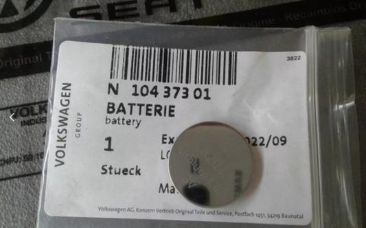 Bateria Controle Da Chave Golf Jetta Tiguan N10437301