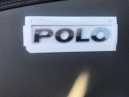 Emblema Polo Tampa Traseira Vw Novo Polo 2G08536872ZZ