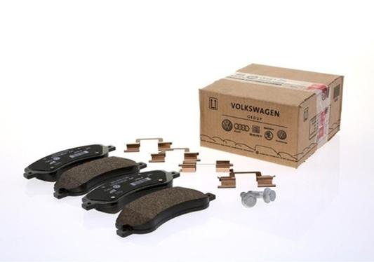 Jogo de pastilhas de freio Amarok - Amarok 2010 - 2016 - Cód. JZZ698151AH - Original Volkswagen