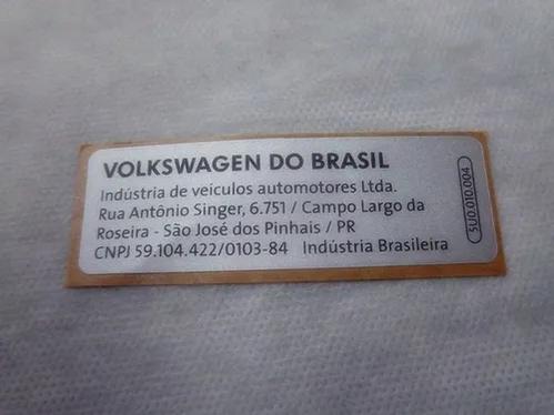 Etiqueta Compartimento Motor Vw Golf Gol Voyage 5U0010004