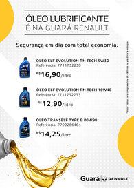 Óleo Lubrificante é na Guará Renault