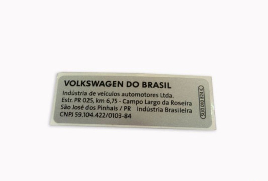 Etiqueta Compartimento Motor Vw Gol 5U0010824B