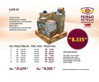 Feirão de Peças Genuínas Fiat - Lote 07