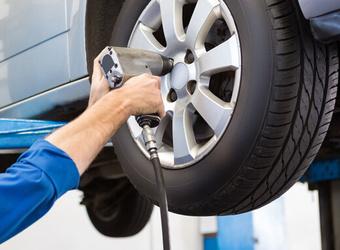 Troca de pneus