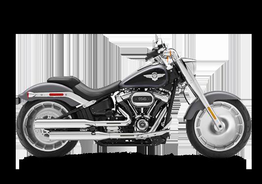 Harley Davidson Fat Boy 2021 Gauntlet Gray Metallic/Vivid Black